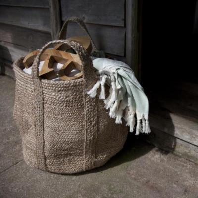 Braided Hemp Storage Basket