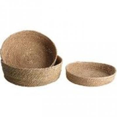 SEAGRASS SHALLOW BOWLS NATURAL SET OF 3