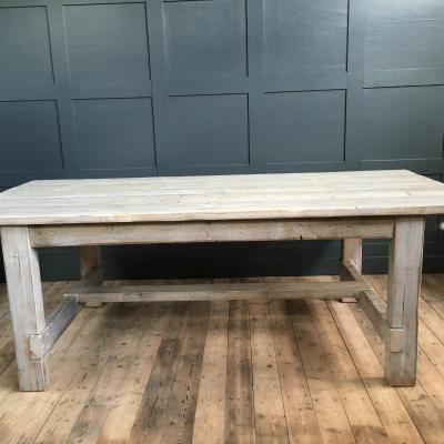 WHITEWASHED REFECTORY TABLE RECLAIMED £695