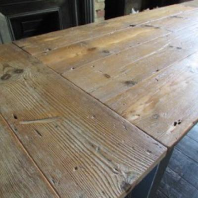 Painted Base Dining Table