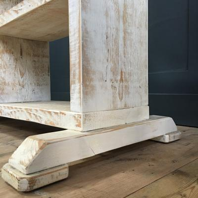 Whitewashed Art Deco Hanging Rail with Drawers