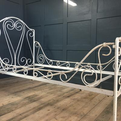 Original Heavy Indian Iron Day Bed £495
