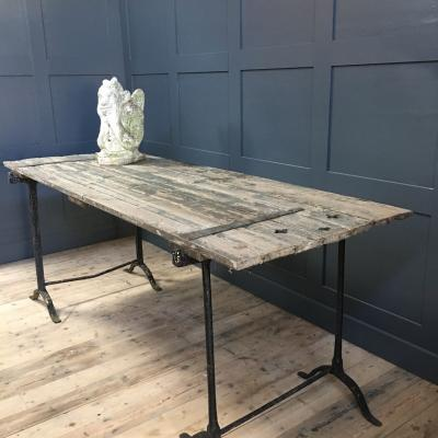 GOTHIC FRENCH DOOR TRESLE TABLES £695.00