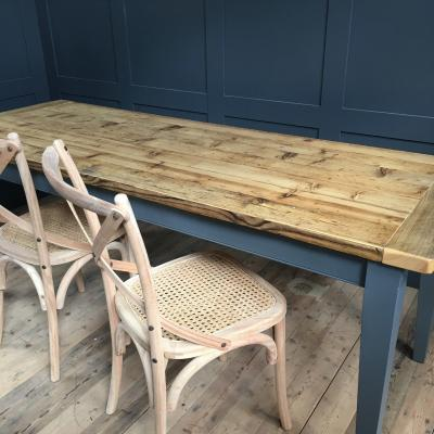 RECLAIMED WOOD TAPERED LEG TABLE £795