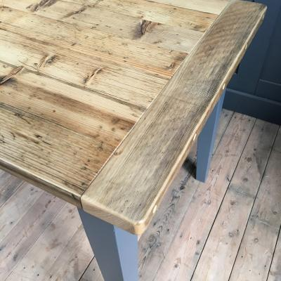 RECLAIMED WOOD TAPERED LEG TABLE £750