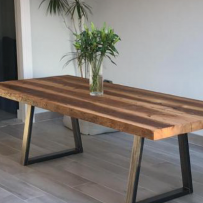 Trapezium Leg Reclaimed Wood Table