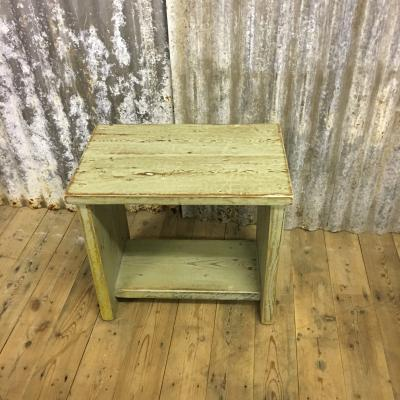 PAINTED SIDE TABLE/STOOL