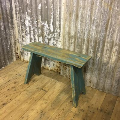 RECLAIMED GREEN BENCH £120