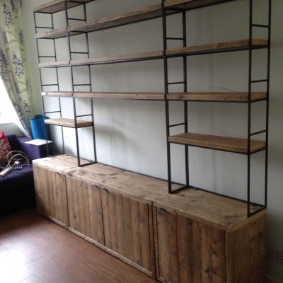 Metal and Reclaimed Shelving
