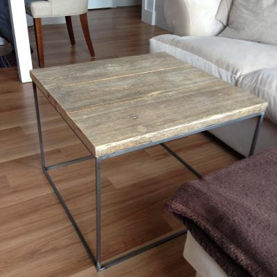 Metal Frame Reclaimed Wood Low Table