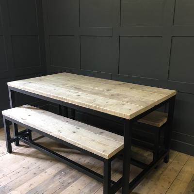 Powder Coated Black Base Table £550