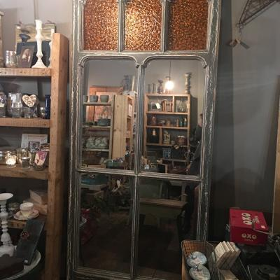 Reclaimed Door with Mirrors