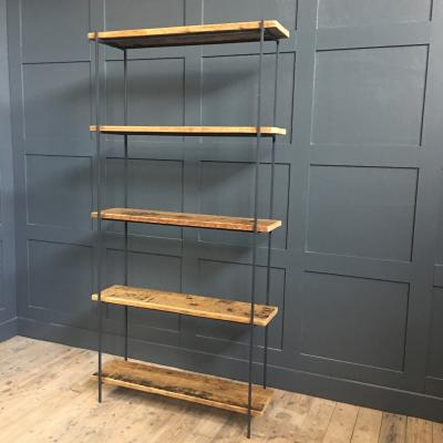 Reclaimed Floorboards Metal Shelving Unit £595
