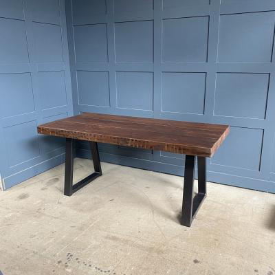 Reclaimed Wood Trapezium Table