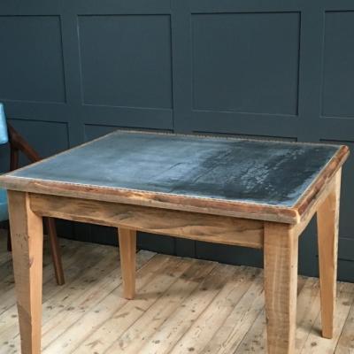 ZINC TOP TABLE RECLAIMED WOOD