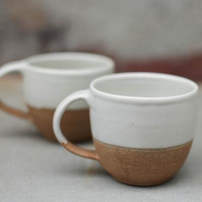 MALI CERAMIC COFFEE MUG WHITE £12.95