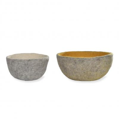 SET OF 2 SOUTHWOLD BOWLS FAIRTRADE FELT