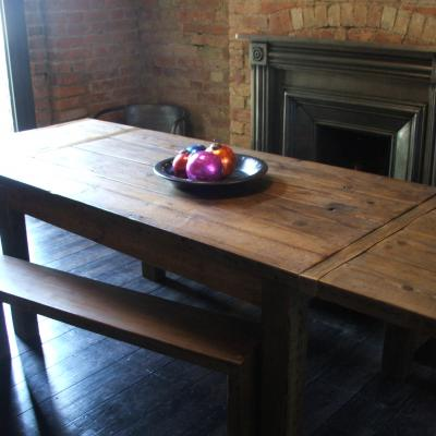 Reclaimed Wood Extending Dining Table