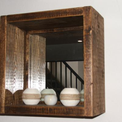 Cube Shelf with Mirror