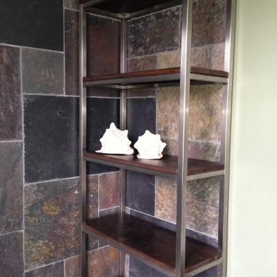 Metal Frame Shelving Unit