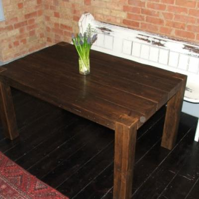 Table with Leg Ends Showing