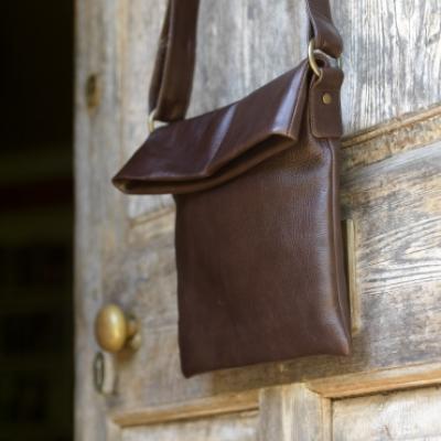 Prisha Fold Over Leather Bag