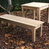 Oak Table and Bench