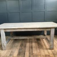 WHITEWASHED REFECTORY TABLE RECLAIMED £795