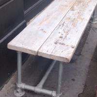 Scaffold Pole &  Reclaimed Wood Bench