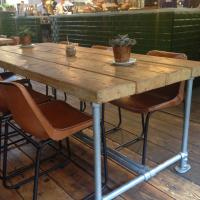 Scaffold Pole Table Reclaimed Wood