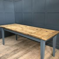 RECLAIMED WOOD TAPERED LEG TABLE £595