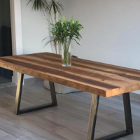 Trapezium Leg Reclaimed Wood Table
