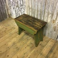 STOOL PRIMITIVE WAX AND PAINTED £145