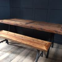 NEW YORK CAST IRON TABLE BASE & RECLAIMED WOOD £950