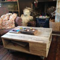 Industrial Table with Castors £495