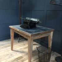 ZINC TOP TABLE RECLAIMED WOOD
