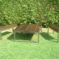 Steel Reclaimed Low Wood Table