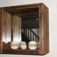Cube Shelf with Mirror
