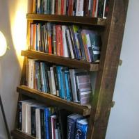Reclaimed Leaning Ladder Shelving