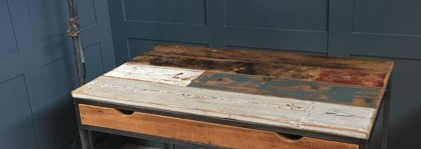 METAL AND RECLAIMED BOARDS DESK £595